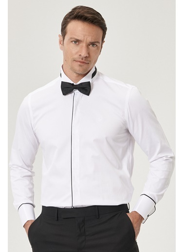 Beymen Business 4B2020200102 Slim Fit Gömlek Atayaka Beyaz